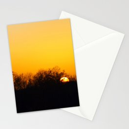 Sunset and cranes natural landscape from France Stationery Cards