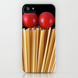 Spaghetti and tomatoes iPhone Case
