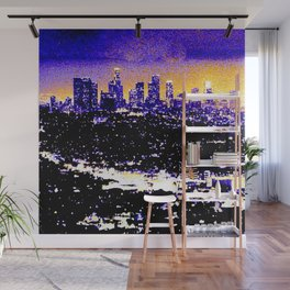 LA Skyline at Night Wall Mural