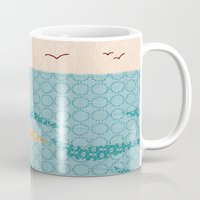 lighthouse Mugs featuring Lighthouse by Alli Coate