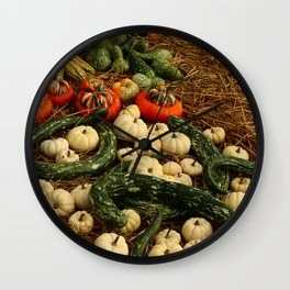 Autumn Time Harvest Time Wall Clock