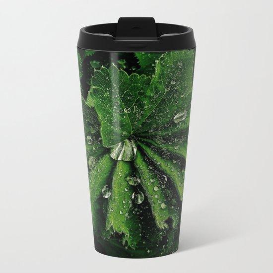 Dew On Rose Scented Geranium Leaves Metal Travel Mug