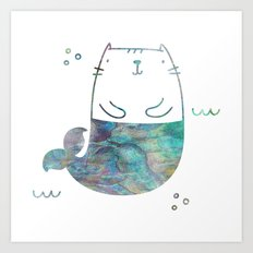 MerKitty Ocean Seashell Art Print