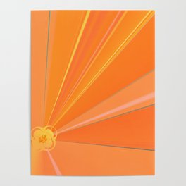 Abstract Golden Sun Flower Poster