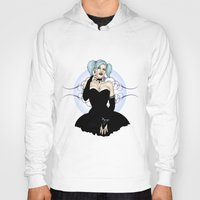 pastel goth Hoodies featuring Goth Pinup by CatAstrophe
