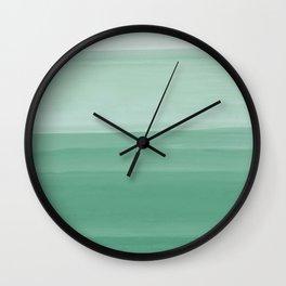 Touching Green Watercolor Abstract #1 #painting #decor #art #society6 Wall Clock