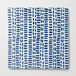 Abstract rectangles - dark blue Metal Print