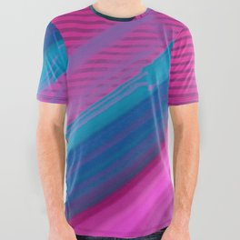 Color Wave ~0 0 7~ All Over Graphic Tee
