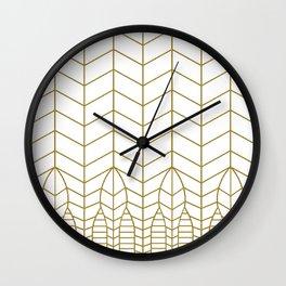 ART DECO IN WHITE Wall Clock
