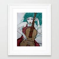 cello Framed Art Prints featuring Cello by LisaMMurphyArt
