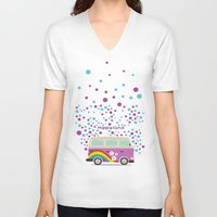 hippie V-neck T-shirts featuring Hippie Land by Subcutaneo