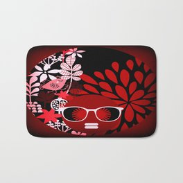 Afro Diva : Sophisticated Lady Red Bath Mat