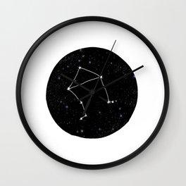 Libra minimal constellation star sign zodiac art print Wall Clock