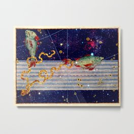 Pisces - Uranometria Collection Metal Print