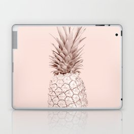 Rose Gold Pineapple on Blush Pink Laptop & iPad Skin