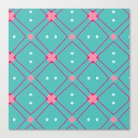 quilt Canvas Prints featuring Quilt by Bunhugger Design