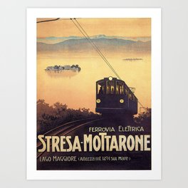 Stresa-Mottarone Art Print