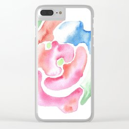 170623 Colour Shape Watercolor 25   Abstract Shapes Drawing   Abstract Shapes Art  Watercolor Painti Clear iPhone Case