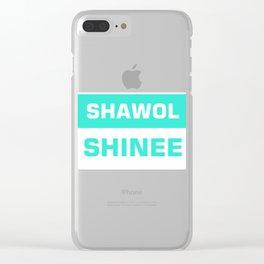 shawol shinee Clear iPhone Case