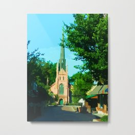 Digital Painting of the Trinity Eposcipal Church in Abbeville Metal Print