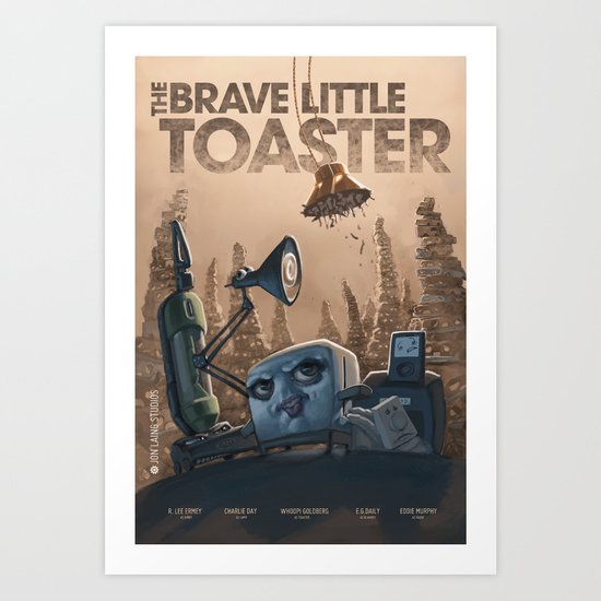The Brave Little Toaster Art Print