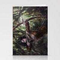 katniss Stationery Cards featuring Katniss by jasric