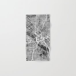 Dallas Texas City Map Hand & Bath Towel