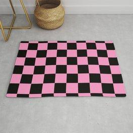 Damier 11 pink and black Rug