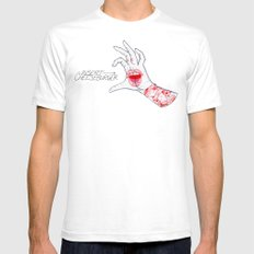 Feed Me White Mens Fitted Tee SMALL