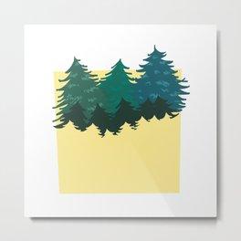 Amongst pines Metal Print
