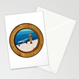 Walking The Shark Stationery Cards