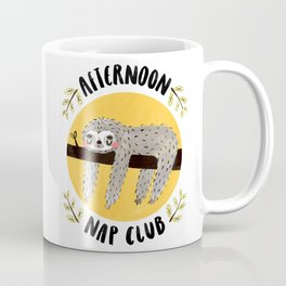 Afternoon Nap Club Sloth Coffee Mug