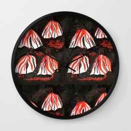 Volcanoes at Night Wall Clock