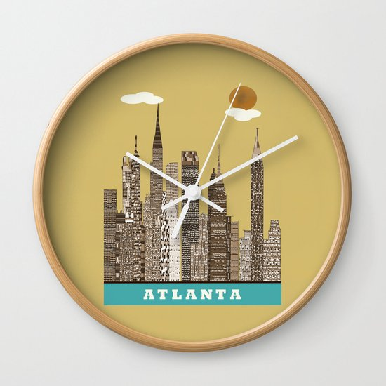Atlanta city vintage Wall Clock