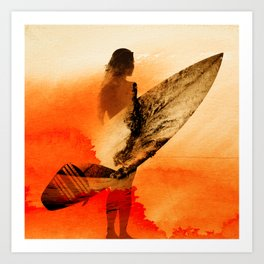 Surfers Morning Art Print