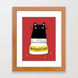 FUR ANTIDEPRESSANT Framed Art Print
