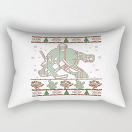 Hockey Goalie Christmas Rectangular Pillow