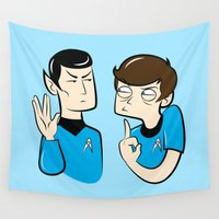 spock Wall Tapestries featuring Spock You by Constance Harvey