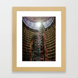 Chicago Red and Blue Framed Art Print