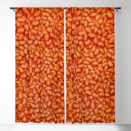 Baked Beans in Red Tomato Sauce Food Pattern  Blackout Curtain