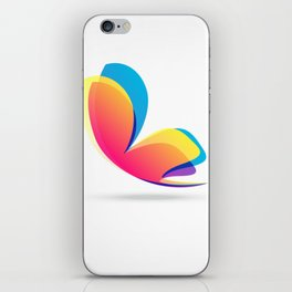 Pretty Colorful Butterfly iPhone Skin