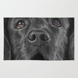 Drawing black Labrador 3 Rug