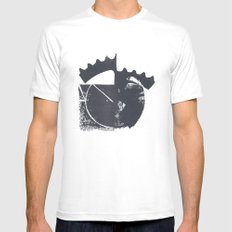 Industrial MEDIUM White Mens Fitted Tee
