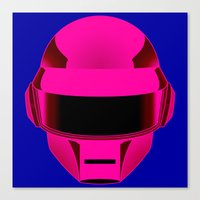 daft punk Canvas Prints featuring Daft Punk by Alli Vanes
