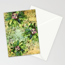 Green Flowers of the Grandmother Garden! Stationery Cards