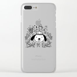 2018 Chinese New Year Doodles Clear iPhone Case