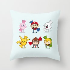 Nintendo Treats Throw Pillow