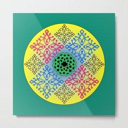Quartet Composite - Papercut patterns Metal Print