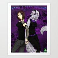 Yana & Ceri Origins Art Print
