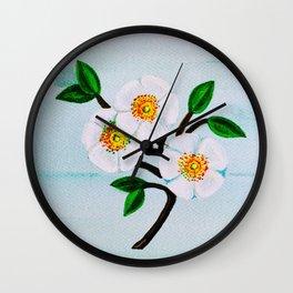 Cherokee Rose Wall Clock